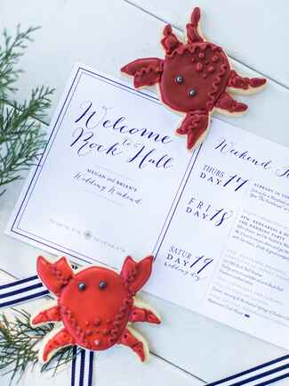 Nautical themed ceremony program