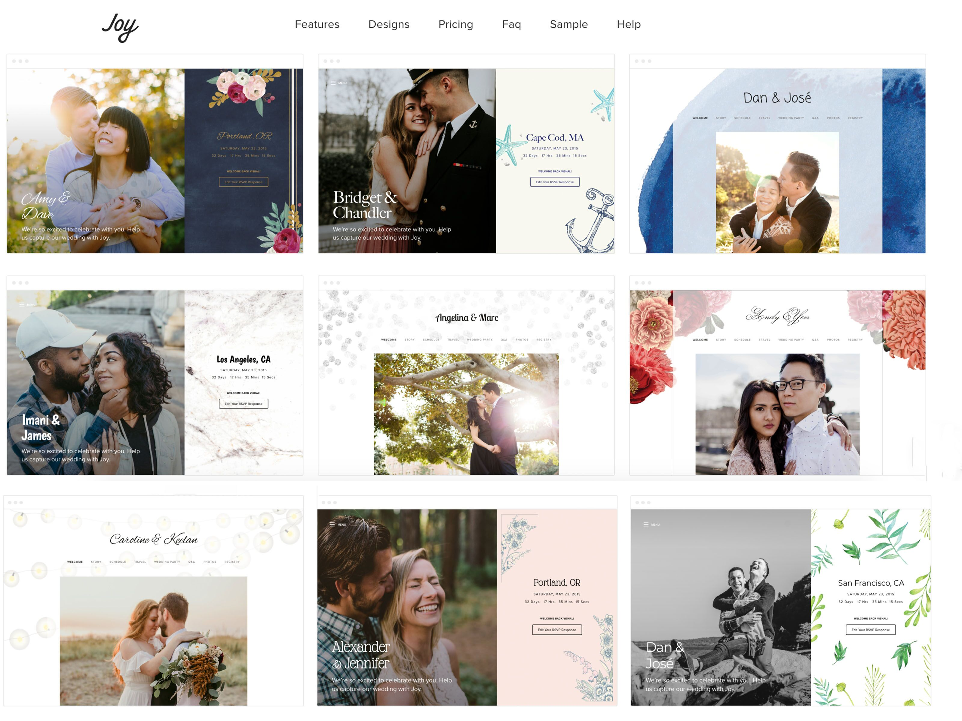 9 Best Wedding Website Builders To Use In 2019 Best Wedding Websites
