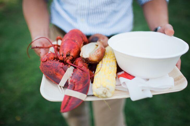 Maine Lobster Bake Wedding Reception Menu
