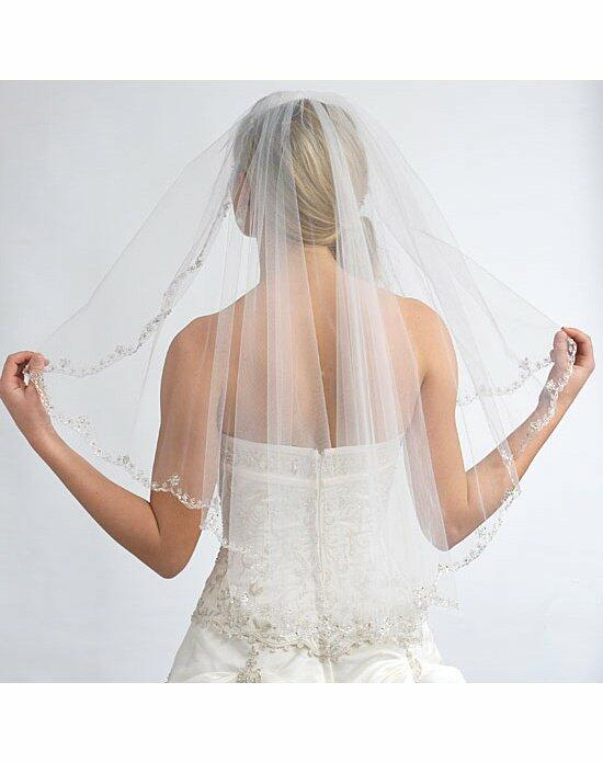 USABride 1 Layer, Mariana Floral Beaded Edge Veil VB-5018 Wedding Veils photo