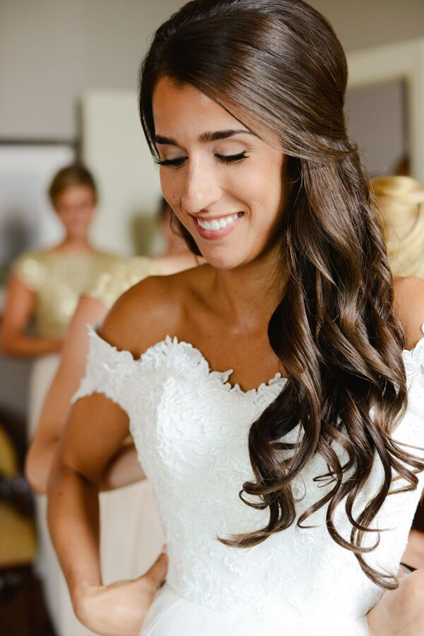 Bridal Makeup And Down Hairstyle