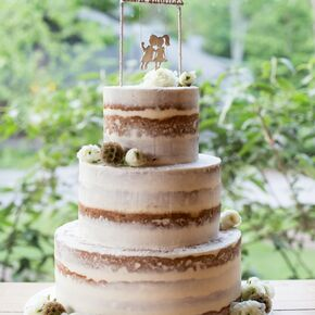 Rustic Camp Themed Wedding Cake