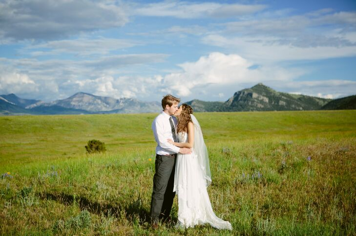The couple took a moment to take pictures amongst the Montana landscape.