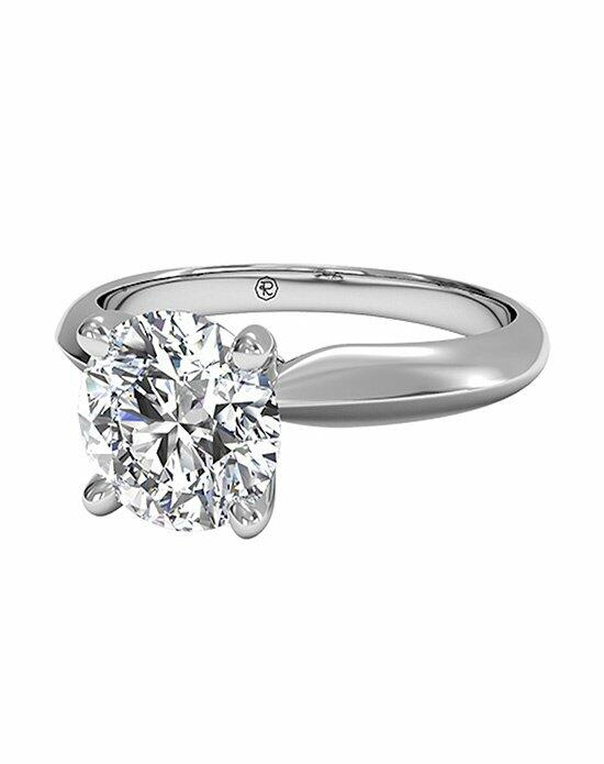 Ritani Round Cut Solitaire Diamond Knife-Edge Engagement Ring in Platinum Engagement Ring photo