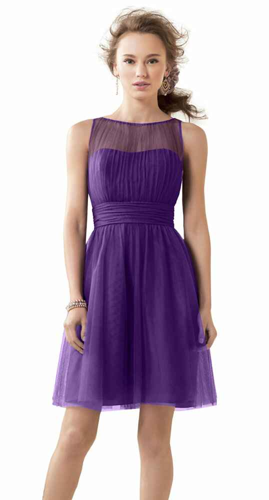 purple bridesmaid dress by Alfred Angelo