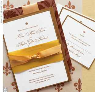 Fleur-de-lis wedding invitations