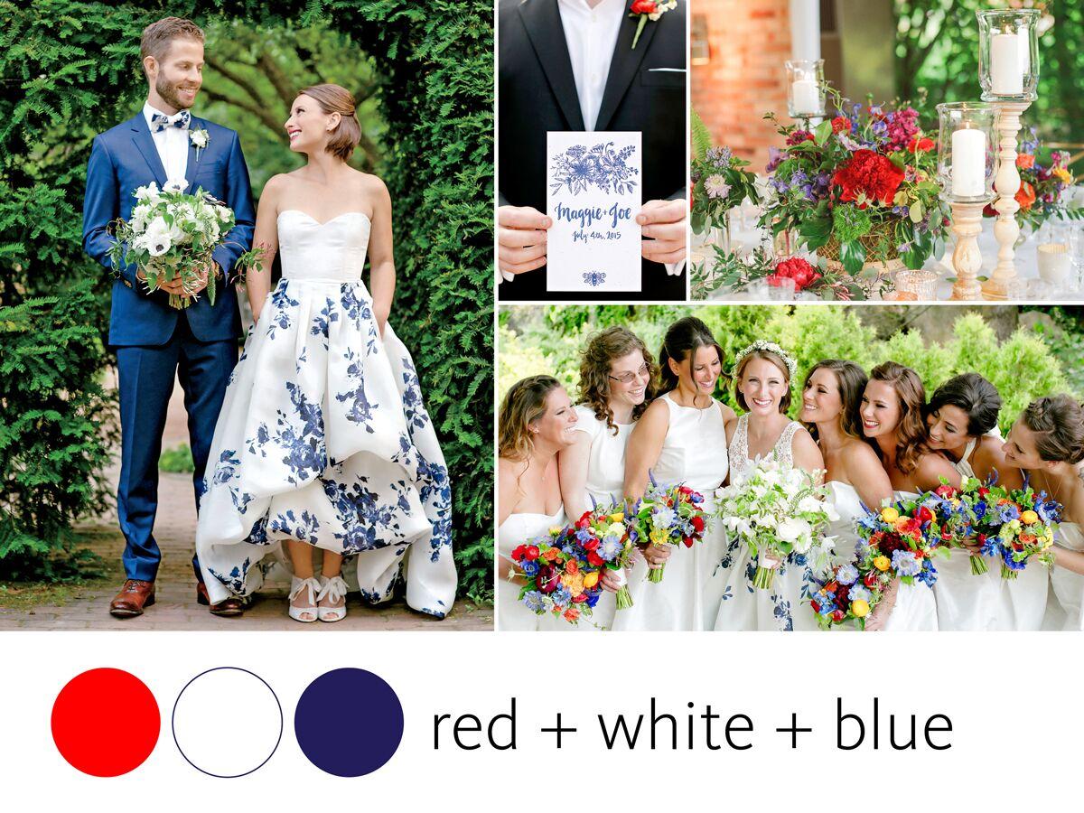 color crush fourth of july wedding color inspiration. Black Bedroom Furniture Sets. Home Design Ideas