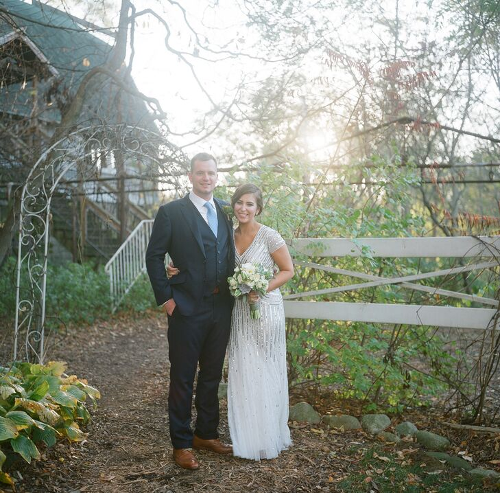 Bride and Groom Rustic Wedding Setting
