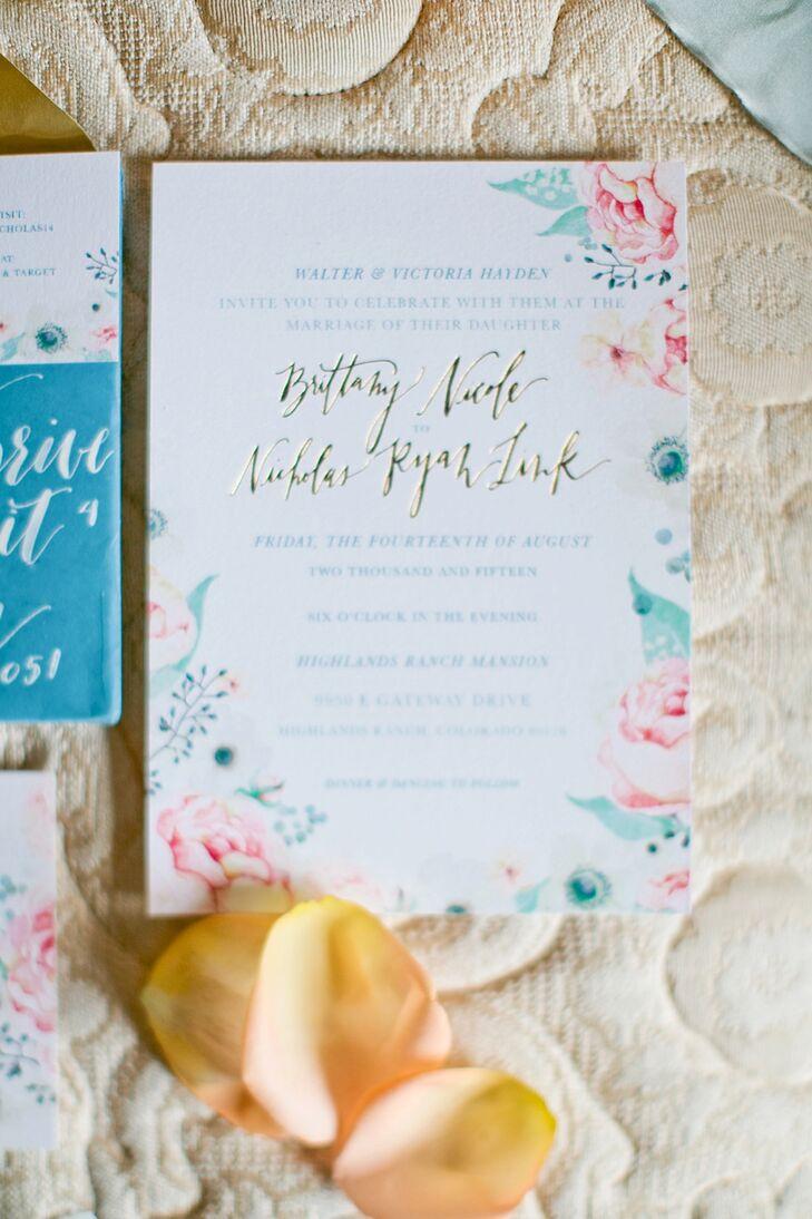 garden themed wedding invitations