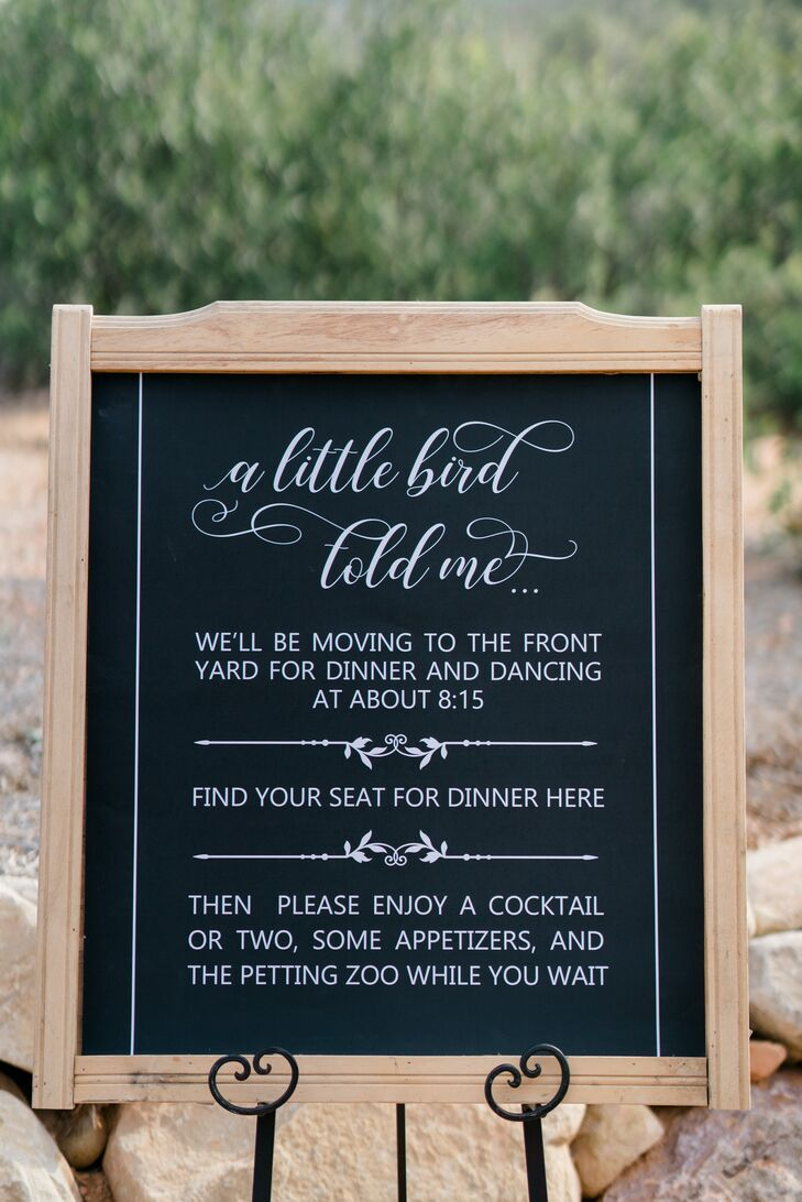 Wood-Framed Chalkboard Welcome Sign