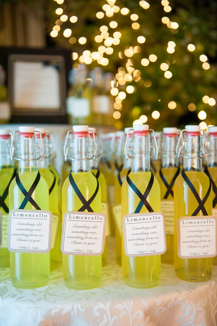 Homemade Bottled Limoncello Favors