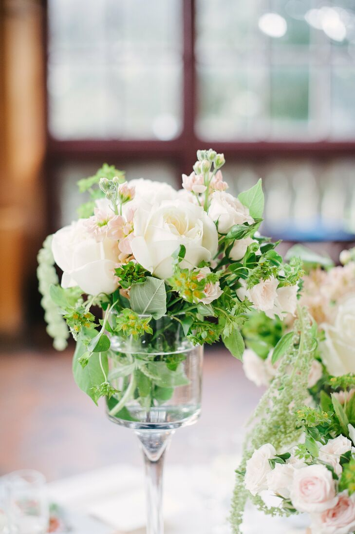 Miniature rose centerpieces