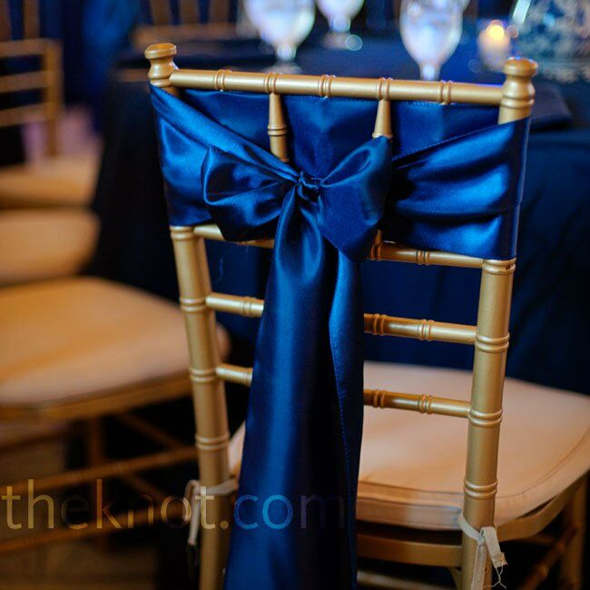 Navy Chair Sashes