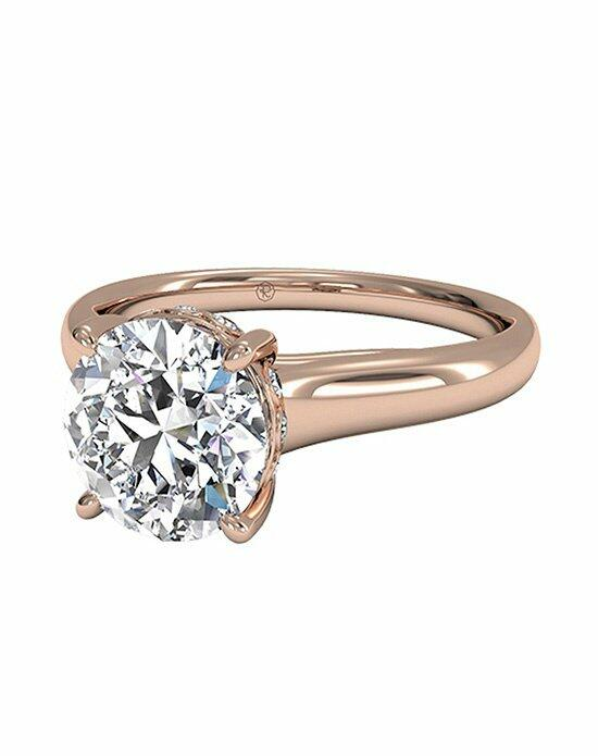 Ritani Round Cut Solitaire Diamond Engagement Ring with Surprise Diamonds in 18kt Rose Gold (0.04 CTW) Engagement Ring photo