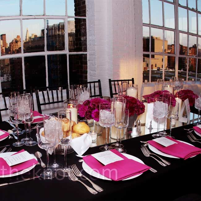 Black And Pink Wedding Ideas: Pink And Black Decor