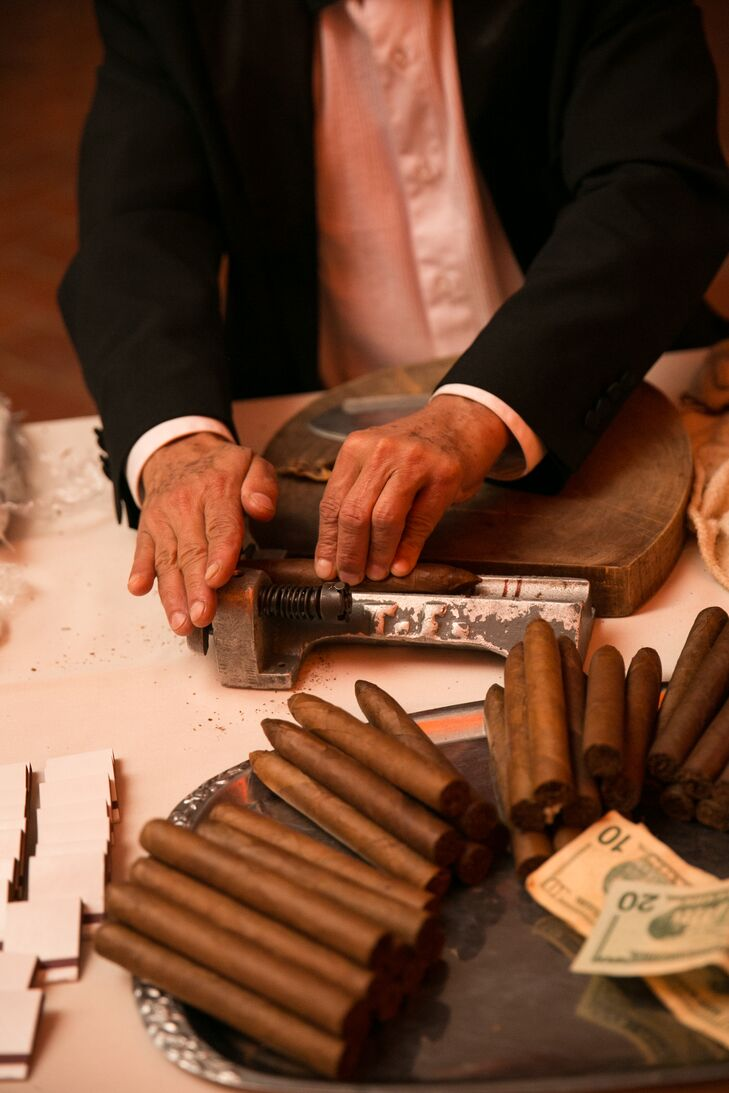 Hand Rolled Cigars At Ellis Island Wedding Reception