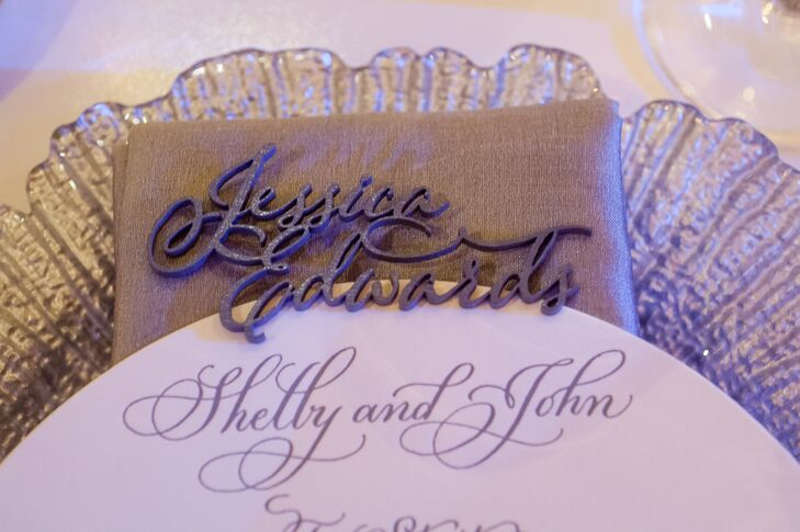Three-Dimensional Calligraphy Name Place Setting