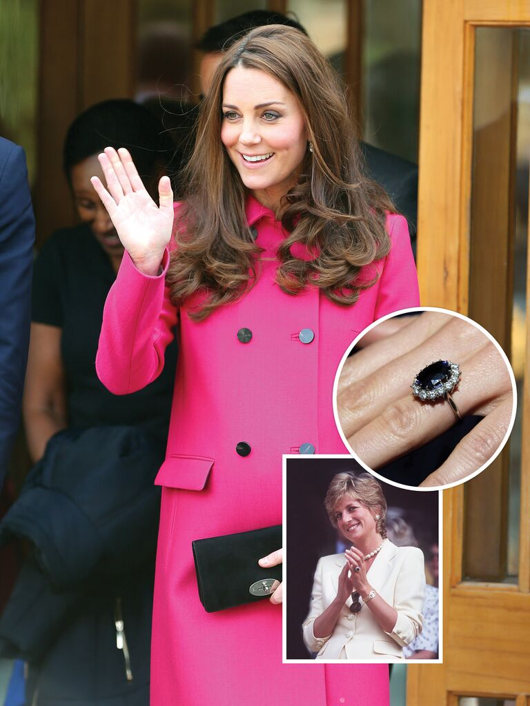 Kate Middleton and Princess Diana's engagement ring