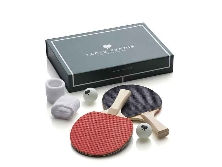 Crate and Barrel table tennis game set