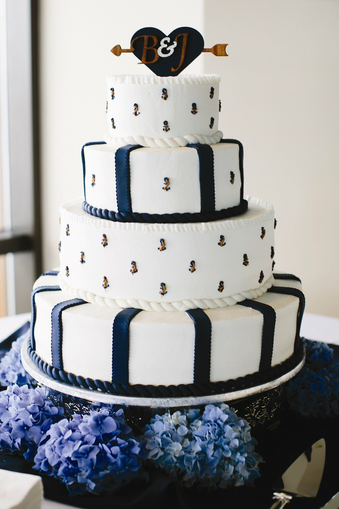 Anchor Motif Wedding Cake
