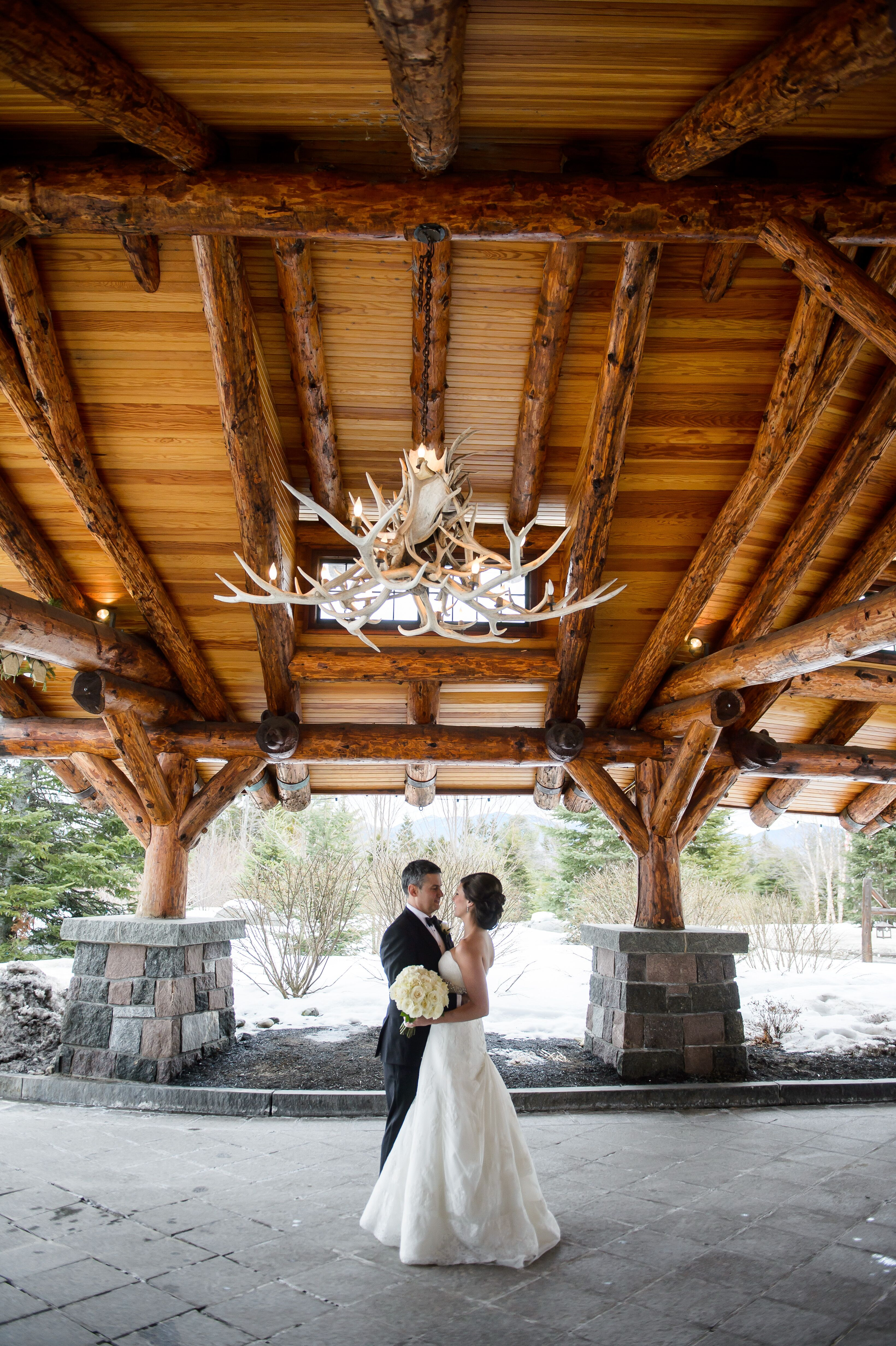 A Sophisticated Winter Wedding At Whiteface Lodge In Lake
