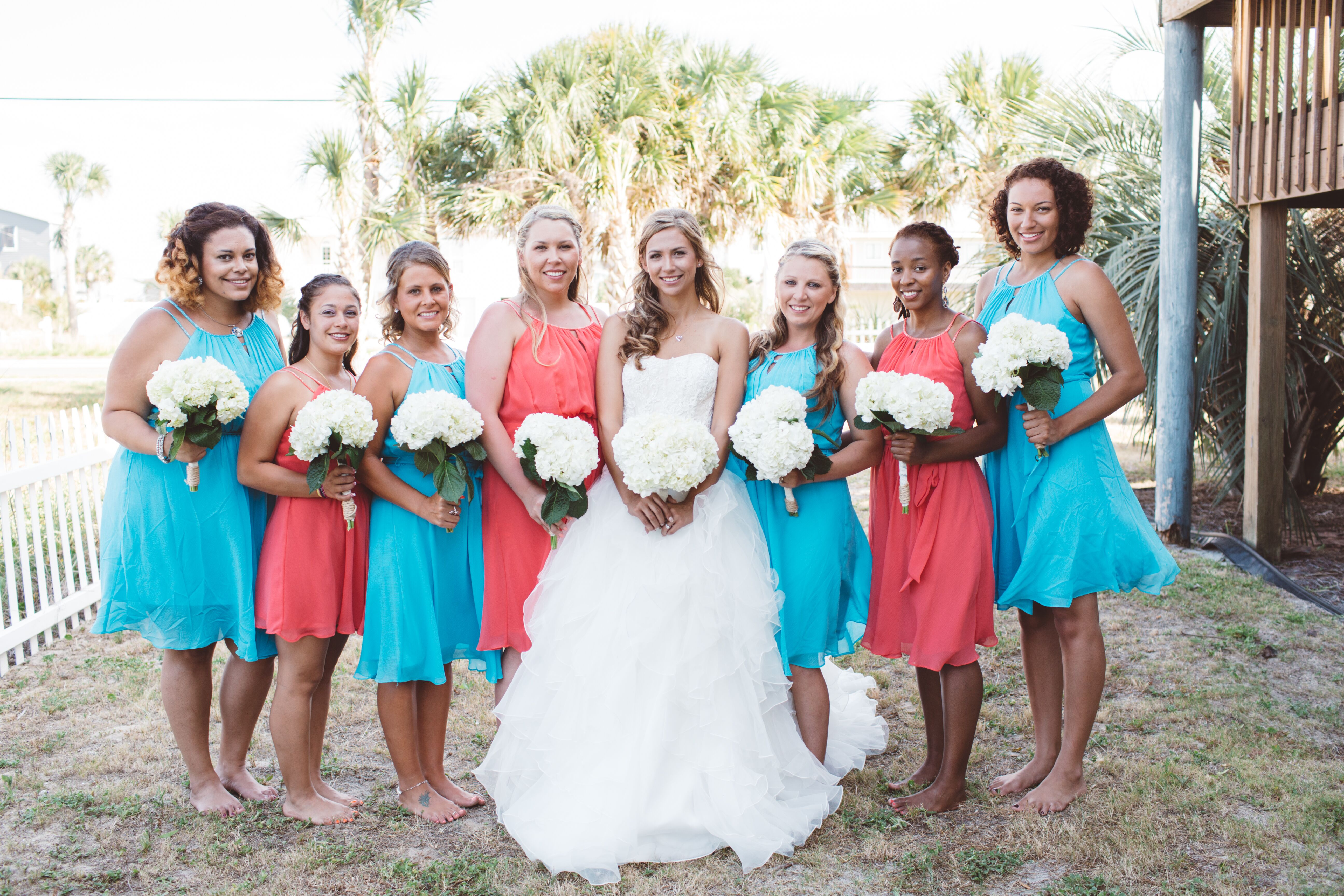 A Bright Guava and Blue Wedding at Beach House in Pensacola Beach ...