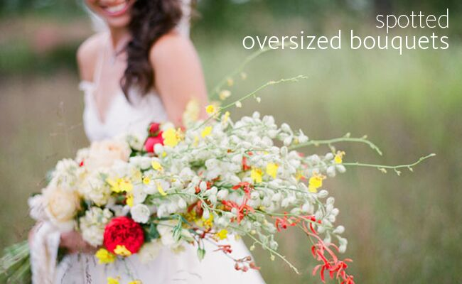 check out the latest flower trend gigantic bouquets, Beautiful flower