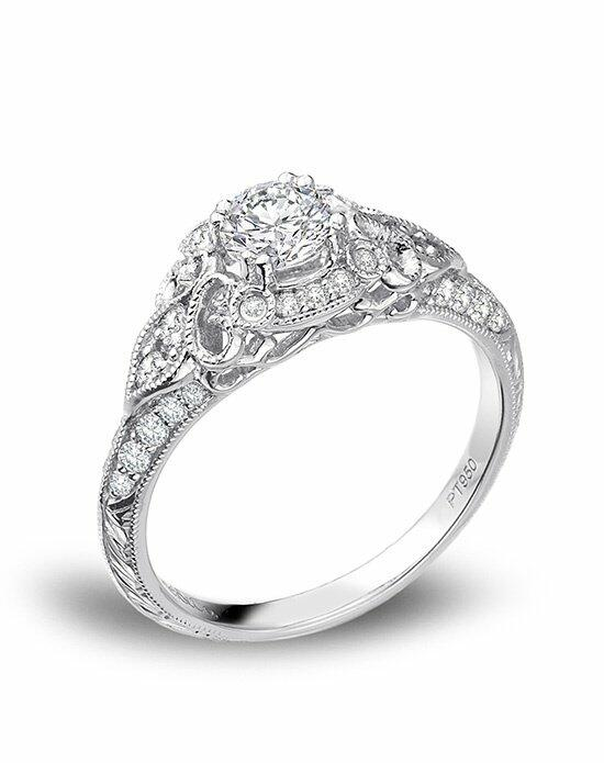 Platinum Must Haves Gabriel & Co. platinum Victorian Halo Engagement Ring Engagement Ring photo