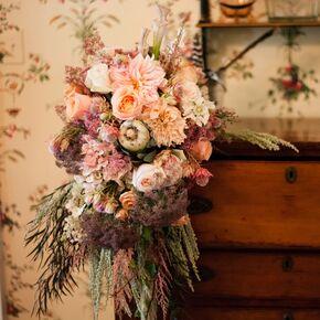 Bohemian Metal Chandeliers Lush Flower Arrangements