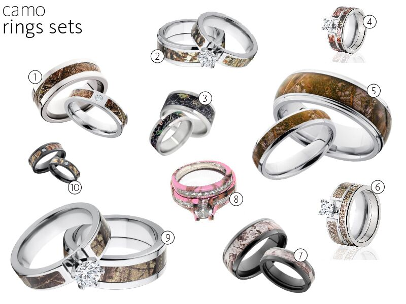 engagement content camo rings wedding