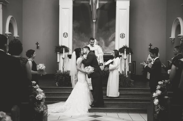 First Kiss at St. Paul the Apostle Church