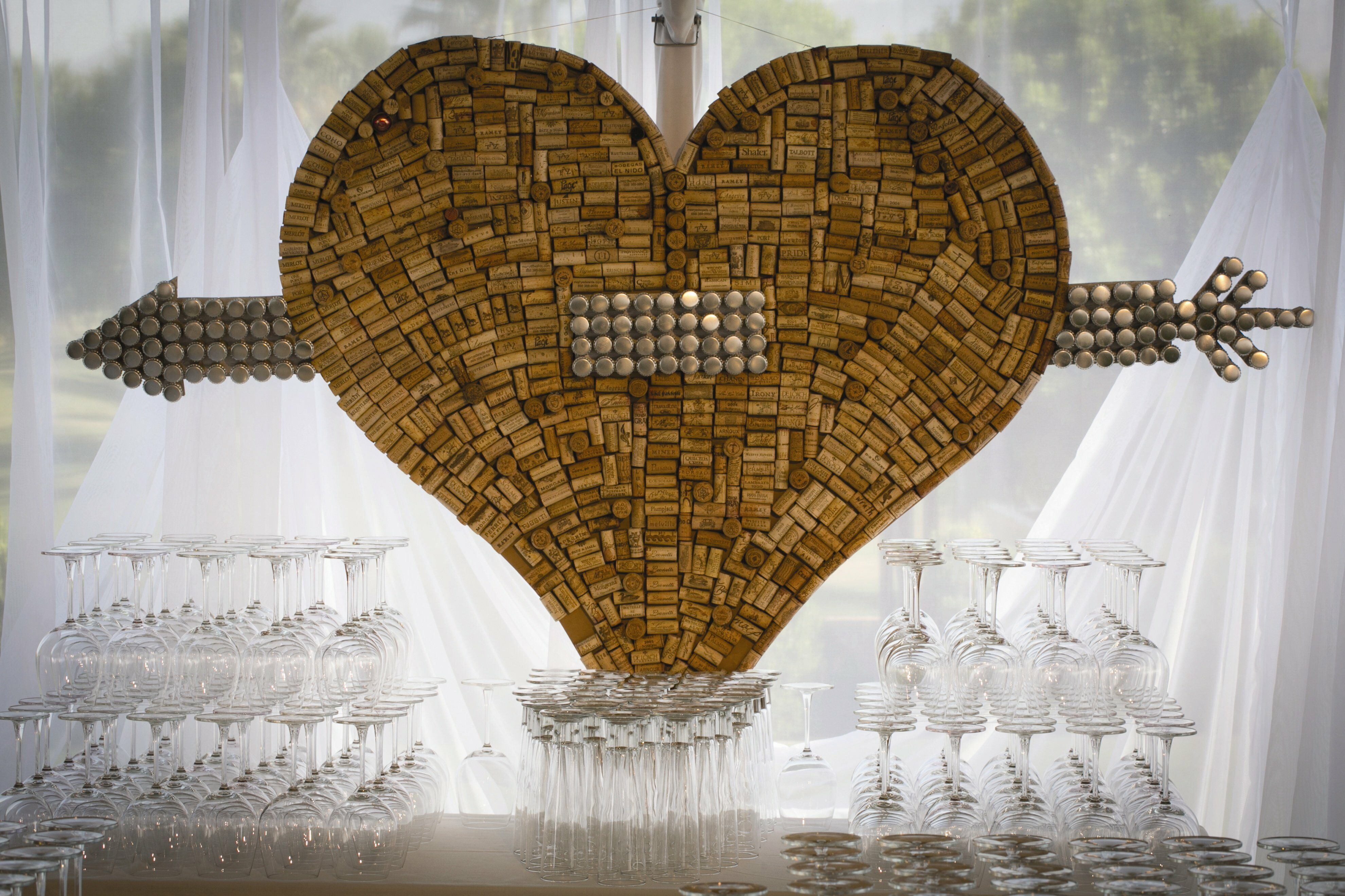 Wine Cork Heart Display
