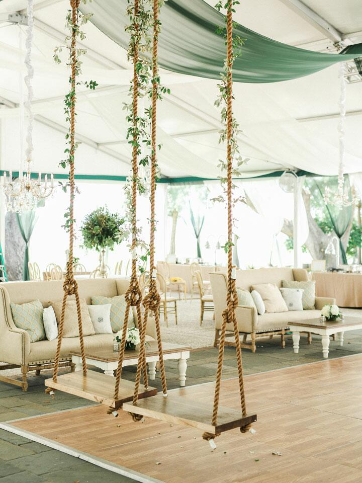 intricate wedding reception space