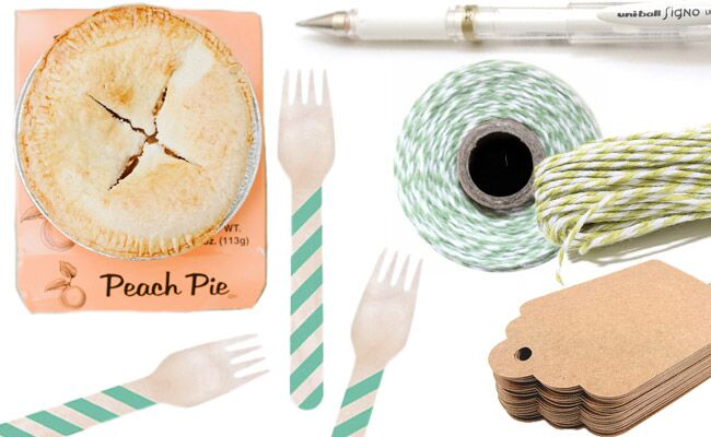 $3 Pie Wedding Favor from The Knot