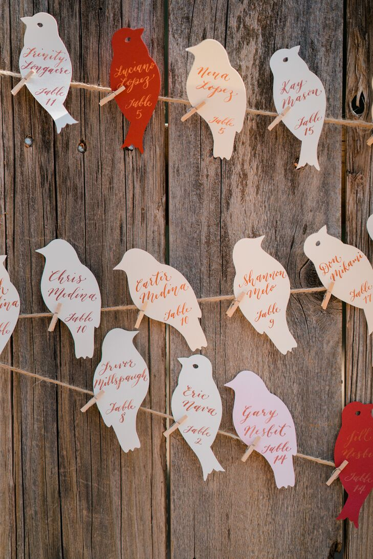 Bird-Themed Escort Cards
