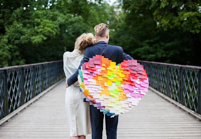 Colorful Post It Note Wedding Pinata