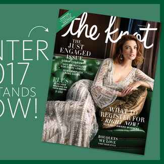 The Knot Winter 2017 magazine subscription details
