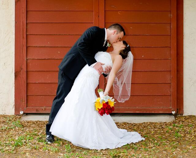 A Bright Red Yellow And White Wedding At Casa Lantana In Brandon Florida