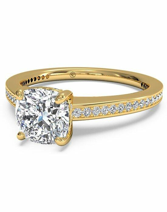 Ritani Cushion Cut Diamond Micropave Band Engagement Ring in 18kt Yellow Gold (0.20 CTW) Engagement Ring photo