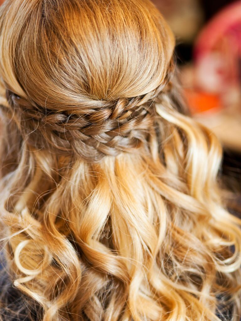 Half Up Down Wedding Hairstyle With Braids