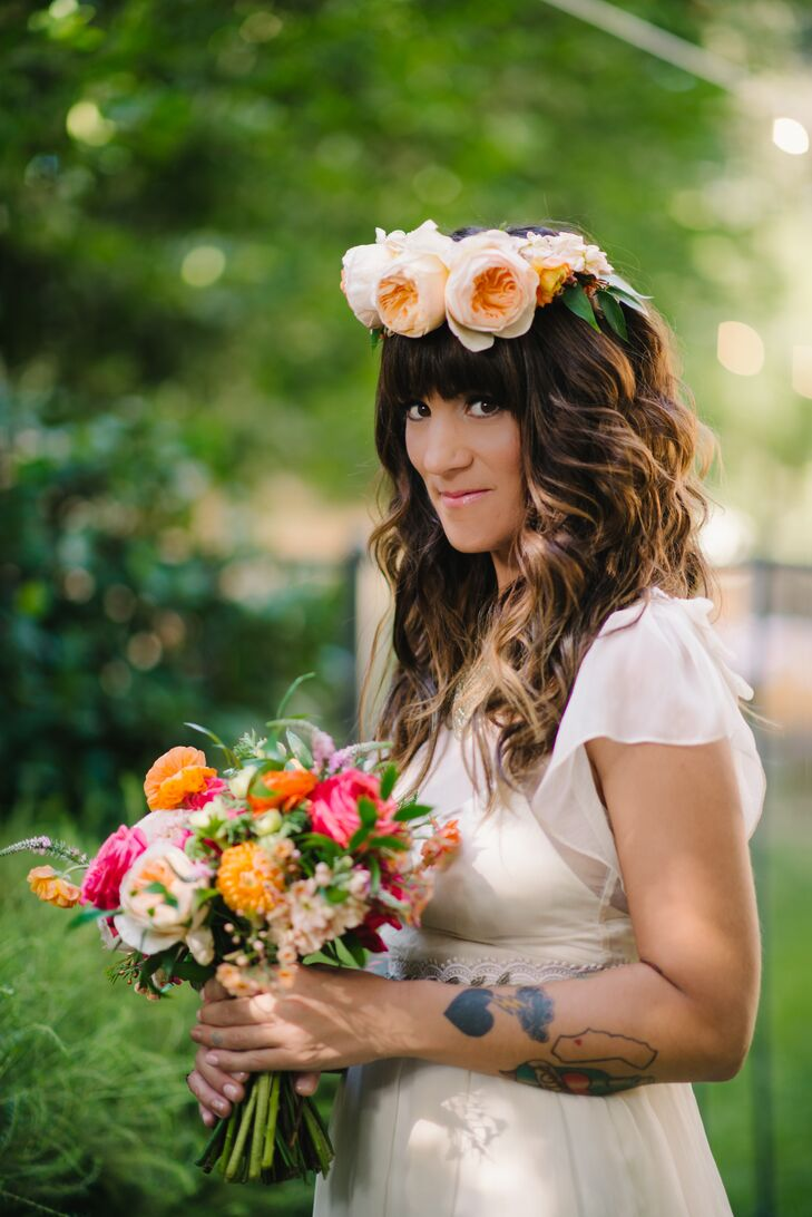 a diy bohemian backyard wedding at a private residence in newhall