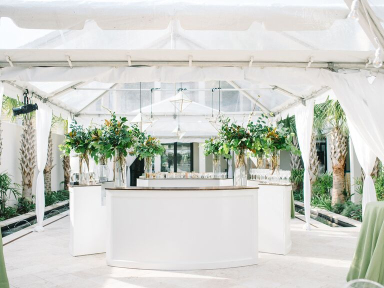 modern white party tent
