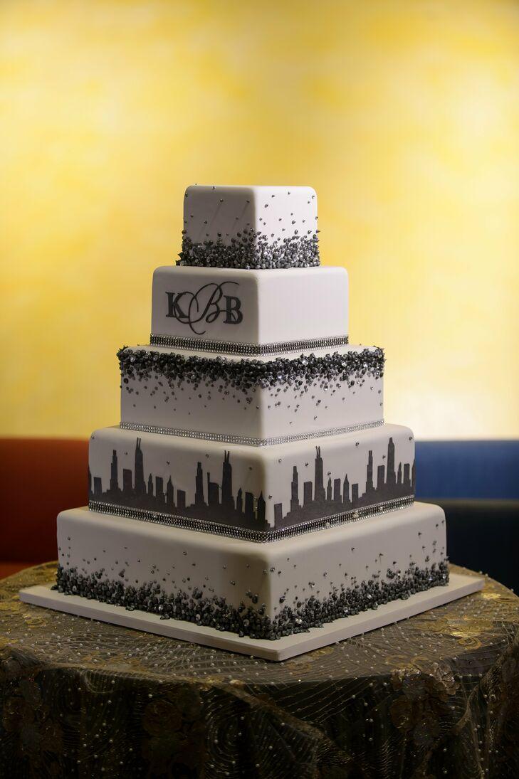 Chicago Cityscape Wedding Cake