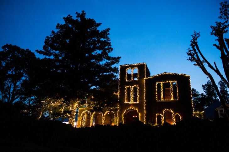 The ruins of the former Barnsley estate come to life at night, when lights cover the brick. The home was built by Godfrey Barnsley for his wife, who died shortly after it was built. It serves as a monument to their love story.