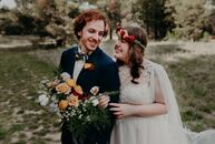 "Samantha Booher and Josh	Jacoby created a whimsical garden party for their boho wedding. ""I'm a Disney fanatic but didn't want to be too theme-y or ga"