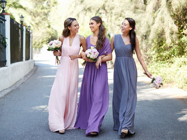 The Knot Vow To Be Chic Mix And Match Al Bridesmaids Dresses