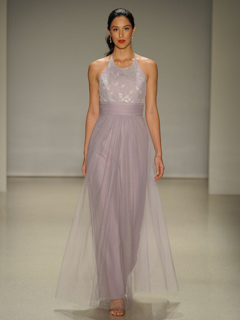 Alfred angelo springfall 2017 collection bridal fashion week photos alfred angelo floor length bridesmaid dress with mosaic sequined underlay bodice for springfall 2017 ombrellifo Choice Image