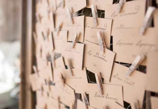 DIY clothespin wedding ideas: Rachael Hall Photography / TheKnot.com