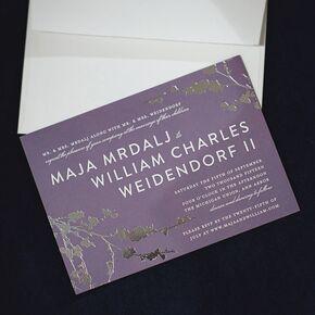 modern purple and metallic wedding invitations - Wedding Invitations Purple