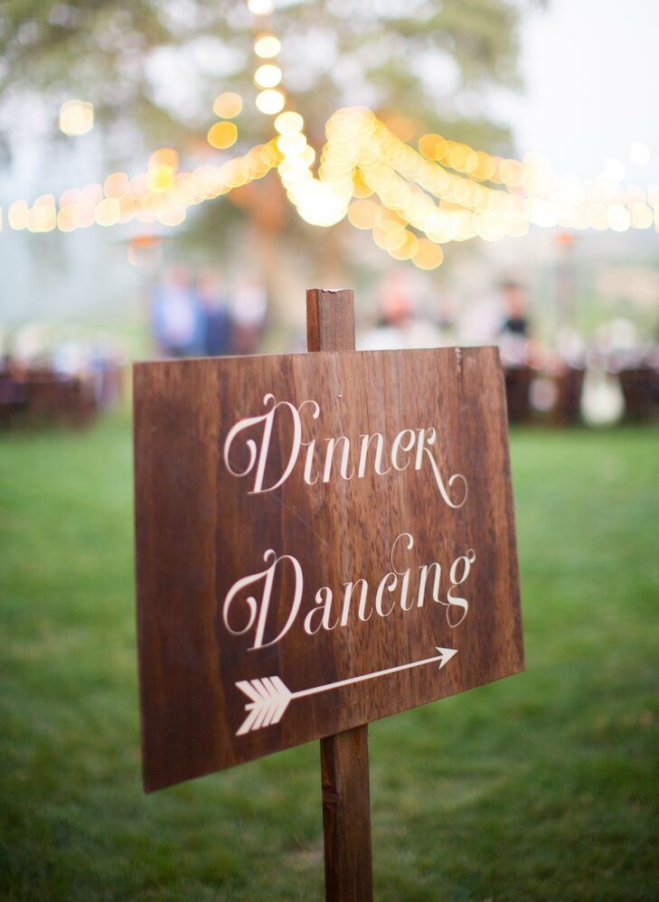 Dinner Sign Dinner And Dancing Sign